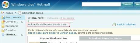 Hotmailcapacidad